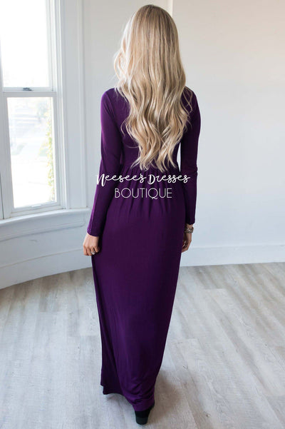 The Aline Long Sleeve Maxi Dress Modest Dresses vendor-unknown