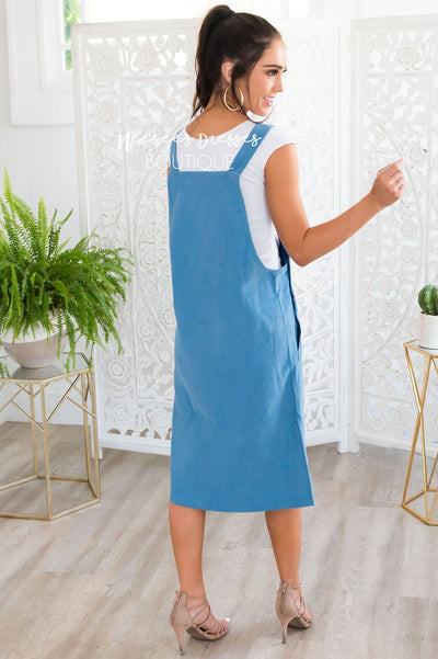 The Ellisi Overall Dress Modest Dresses vendor-unknown