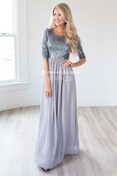The Elsa Modest Dresses vendor-unknown
