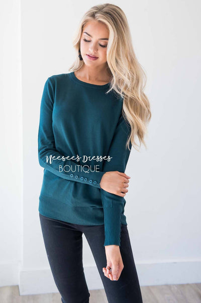 In Love with Fall Button Sleeve Sweater Tops vendor-unknown