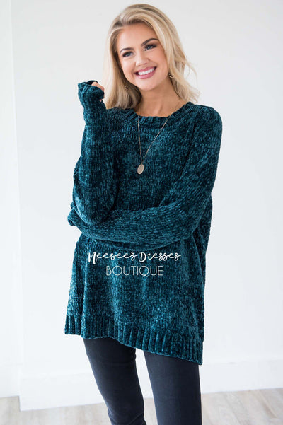 Afraid To Fall Chenille Knit Sweater Tops vendor-unknown