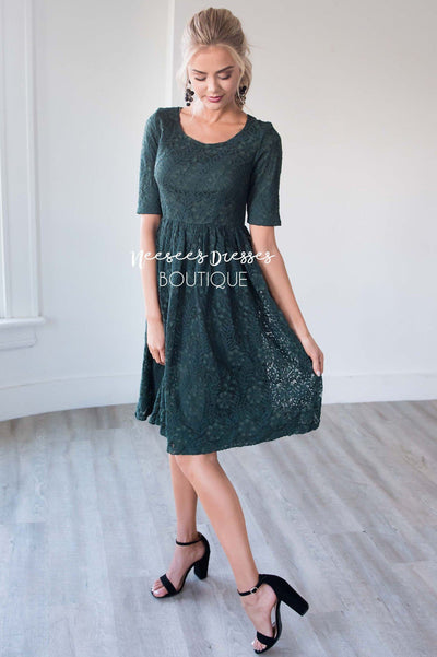 The Eva Branch Lace Dress