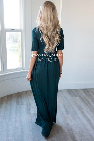 The Ritchie 3/4 Length Sleeve Maxi Dress Modest Dresses vendor-unknown