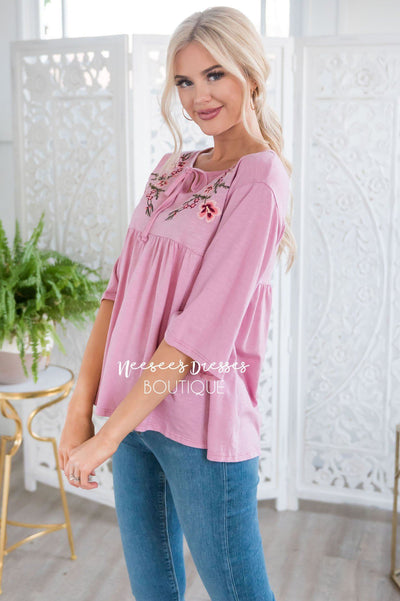 Enchanted Heart Baby Doll Top Tops vendor-unknown