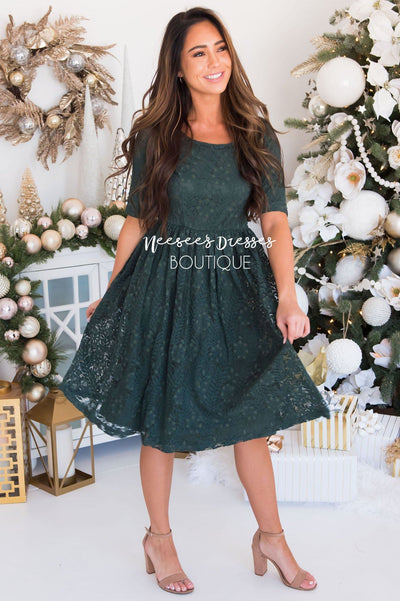 The Eva Branch Lace Dress Modest Dresses vendor-unknown