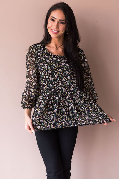 Every Little Thing Modest Blouse Tops vendor-unknown