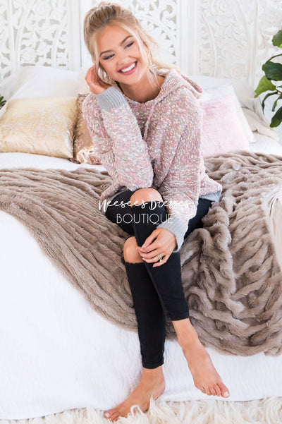 Everything Joyful Hooded Sweater Modest Dresses vendor-unknown