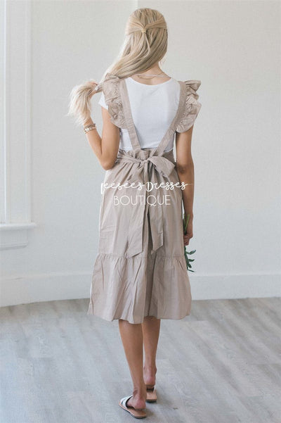 The Arielle Ruffle Sleeve Overall Dress