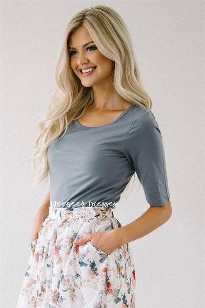 Silky Soft Light Gray Top Tops vendor-unknown Light Gray XS