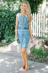 The Sally Denim Overall Dress Modest Dresses vendor-unknown