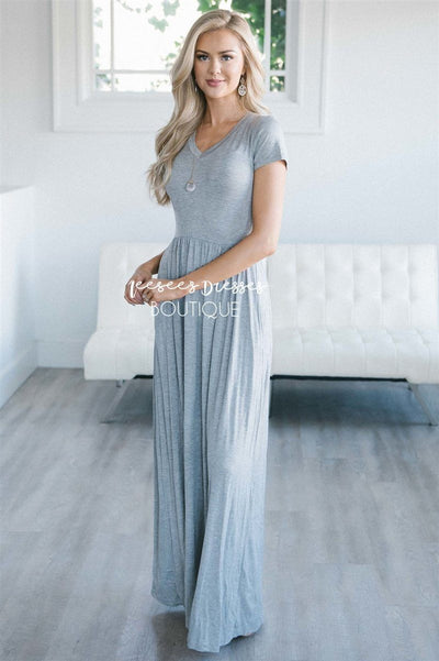 The Luella V Neck Maxi Dress Modest Dresses vendor-unknown