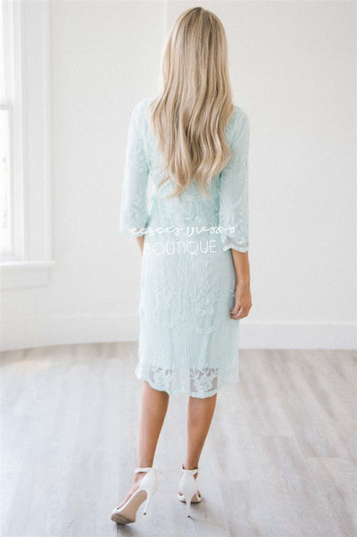 Day Dreamer Lace Dress in Pastel Mint Modest Dresses vendor-unknown