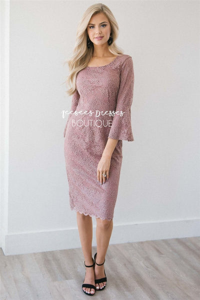 The April Modest Dresses vendor-unknown Dark Mauve XS