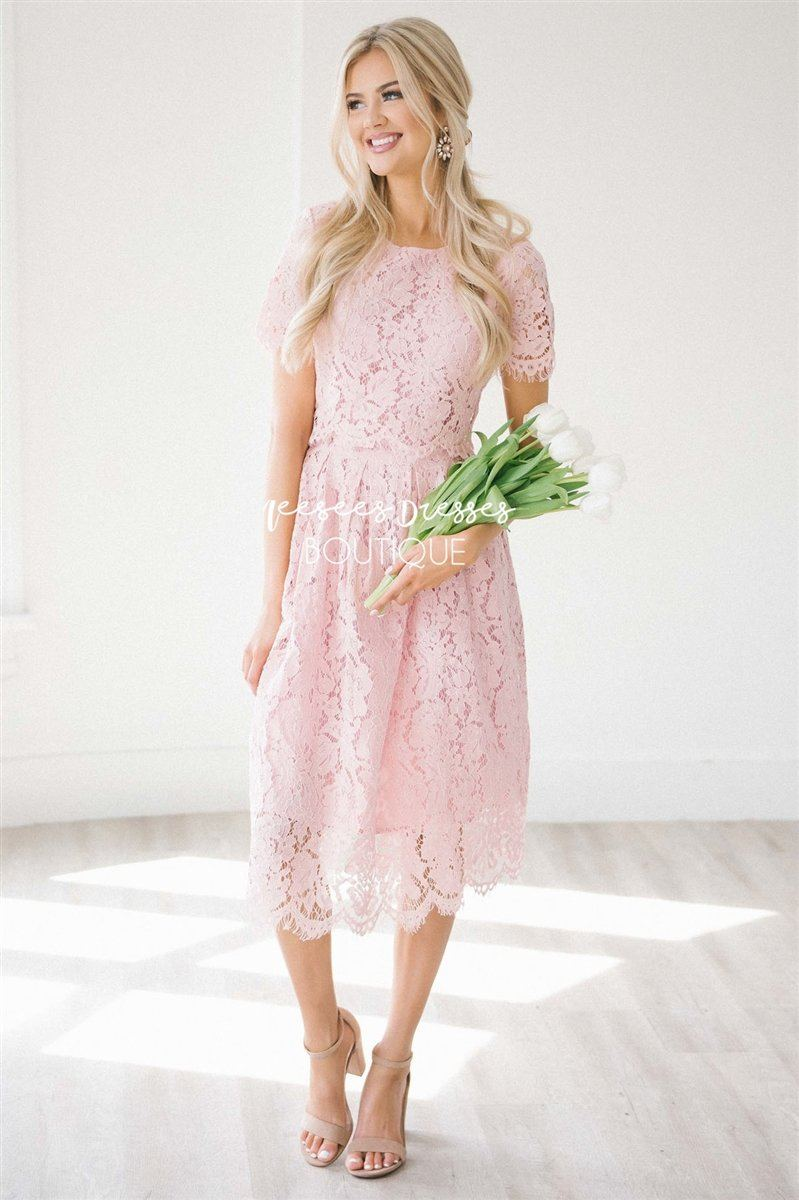 The Vivienne Modest Dresses vendor-unknown Blush Pink S