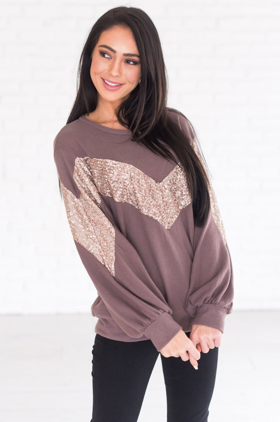 Filled With Joy Modest Fleece Top
