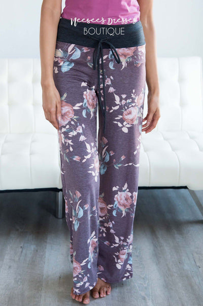 The Cutest Floral Pajama Pants Accessories & Shoes vendor-unknown
