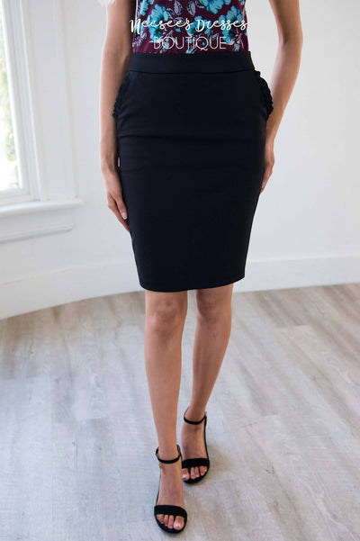Wondering Vibes Pencil Skirt