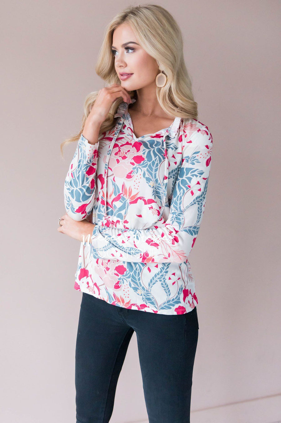 Maybe So Maybe Not Floral Blouse