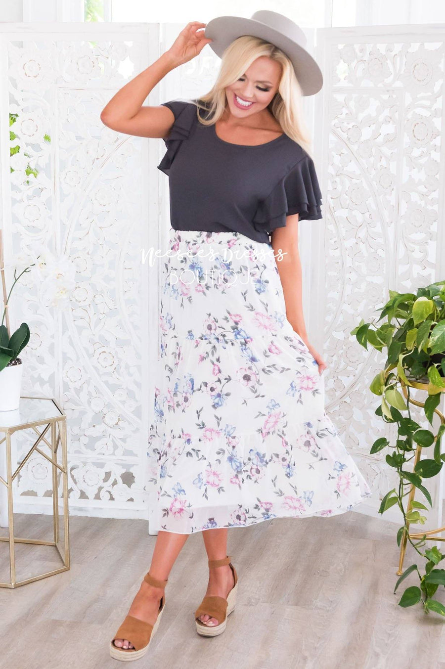 Falling For Floral Modest Skirt Modest Dresses vendor-unknown