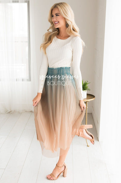 Follow Your Heart Ombre Tulle Skirt Skirts vendor-unknown