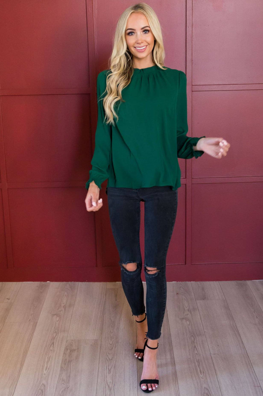 Down To Business Modest Blouse