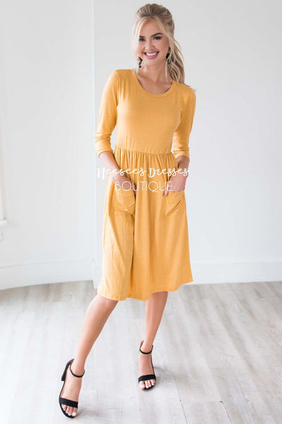 The Poppy 3/4 Length Sleeves Modest Dresses vendor-unknown