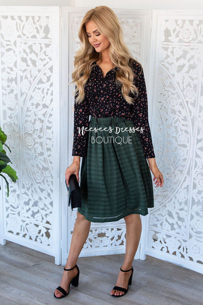 Good Day Sunshine Flowy Skirt Modest Dresses vendor-unknown