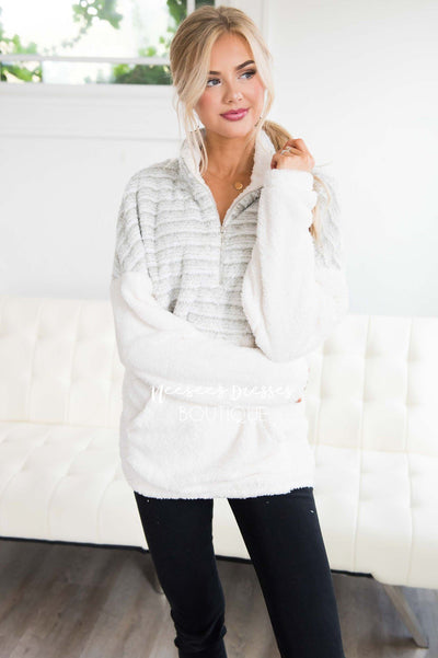 Snow Days Sherpa Colorblock Sweater