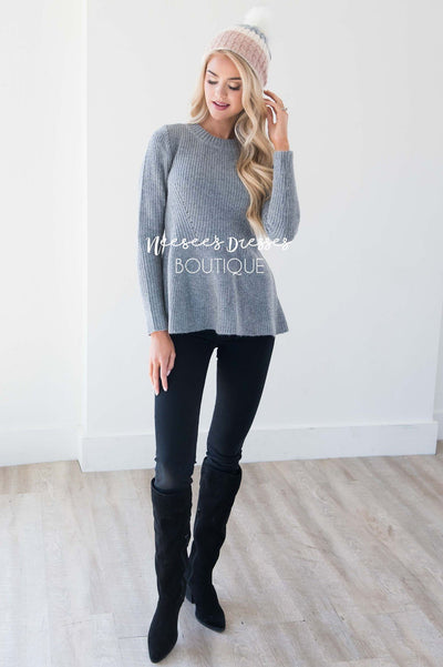Fit And Flare Knit Sweater Tops vendor-unknown