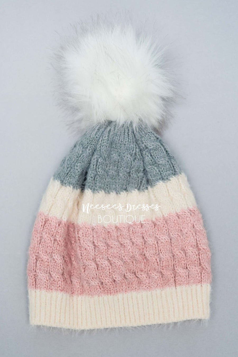 Chase My Heart Mohair Striped Beanie Accessories & Shoes Hana