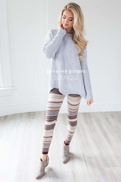 Starstruck By Love Scallop Hem Sweater Tops vendor-unknown