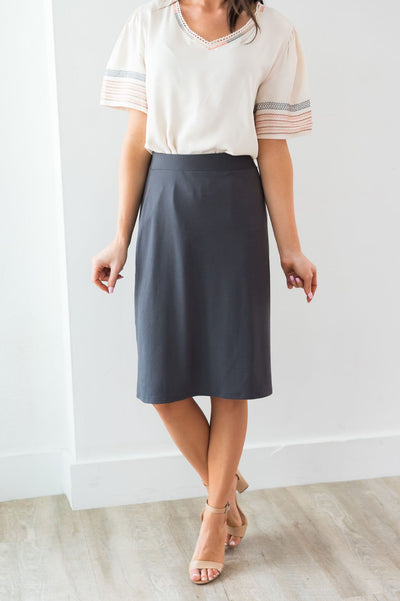 Crushing On You Modest A-line Skirt Modest Dresses vendor-unknown
