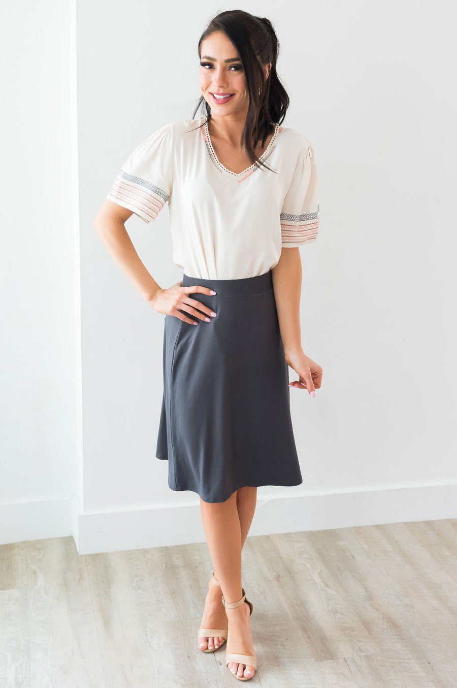 Crushing On You Modest A-line Skirt