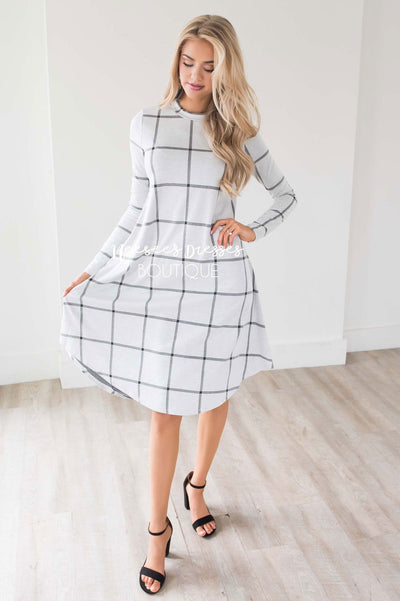 The Halsey Swing Dress Modest Dresses vendor-unknown
