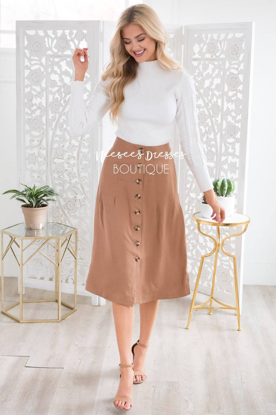 Happy Days Button Skirt