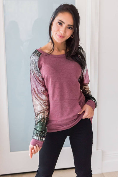 Layered In Happiness Modest Sweatshirt Modest Dresses vendor-unknown