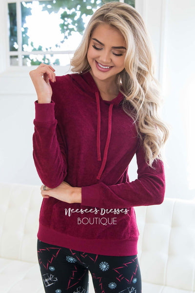 Soft Fuzzy Lightweight Hoodie Tops vendor-unknown