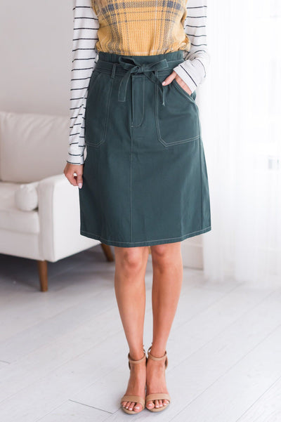 Hope Filled Modest Tie Waist Skirt Modest Dresses vendor-unknown