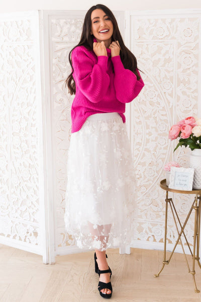 Pretty In Pink Modest Sweater Modest Dresses vendor-unknown