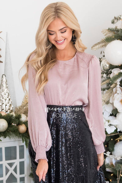 It's A Wonderful Life Satin Blouse Tops vendor-unknown