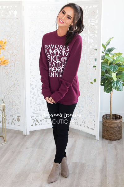 It's All About Fall Modest Sweatshirt Modest Dresses vendor-unknown