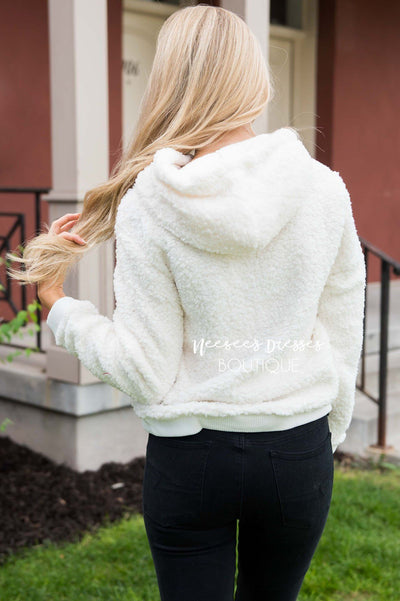 Cozy Fleece Hoodie Sweater Tops vendor-unknown
