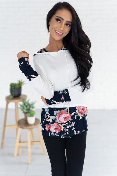 Midnight Blooms Modest Hoodie Modest Dresses vendor-unknown