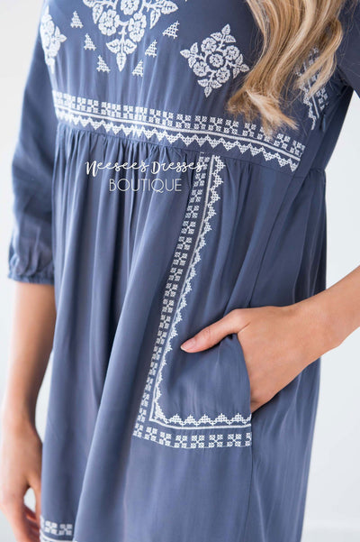 The Karen 3/4 Length Sleeves Modest Dresses vendor-unknown