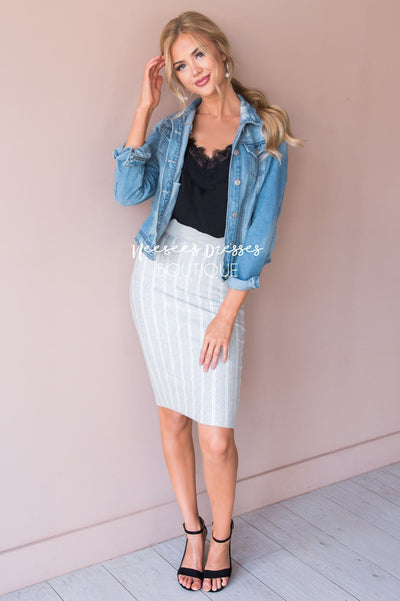 Keep it Cool Sweater Pencil Skirt Skirts vendor-unknown