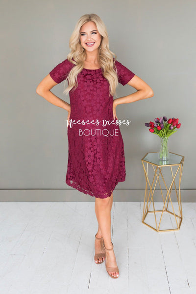 The Kennedy Lace Shift Dress Modest Dresses vendor-unknown