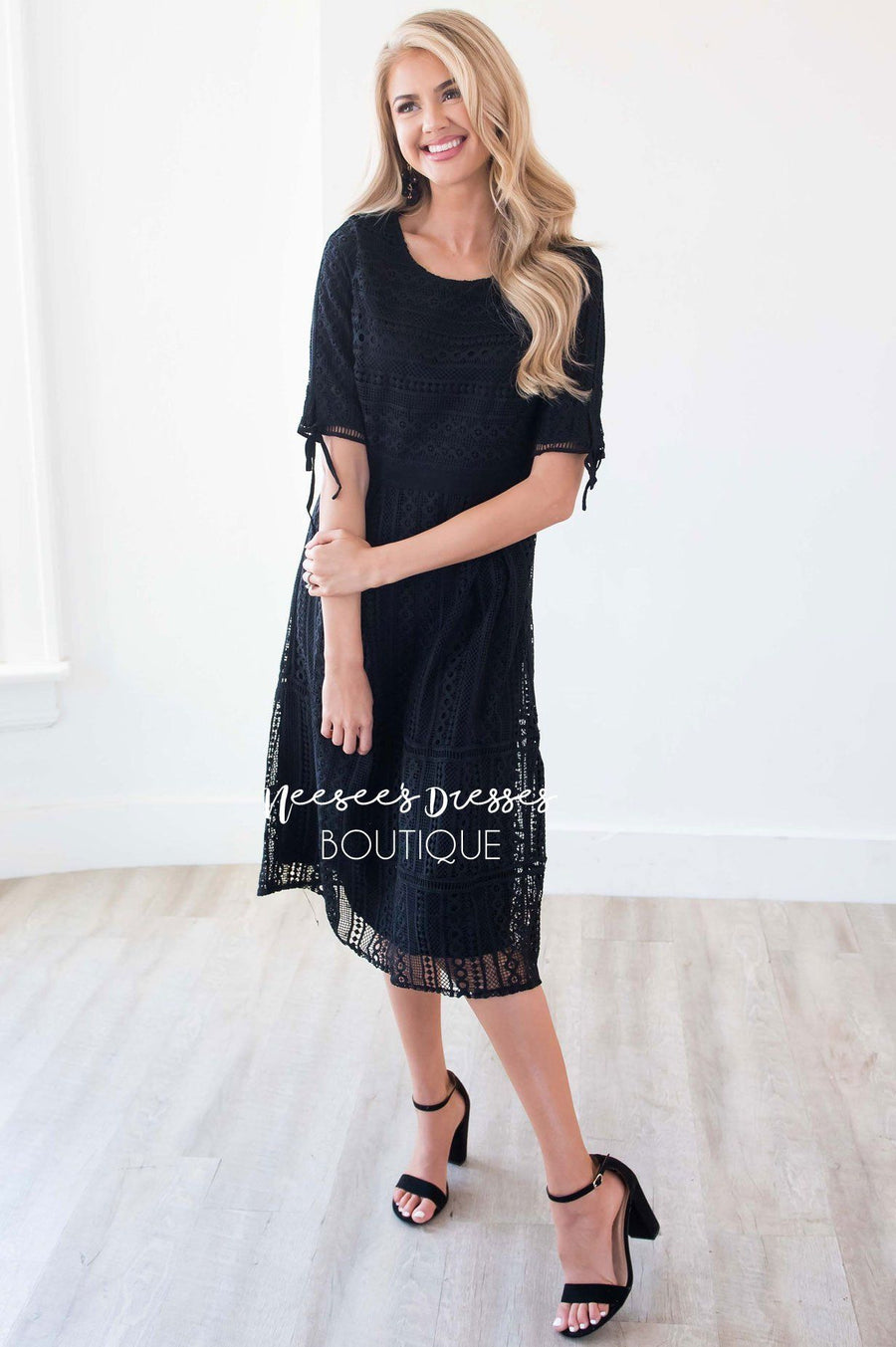 The Alyce Black Lace Dress