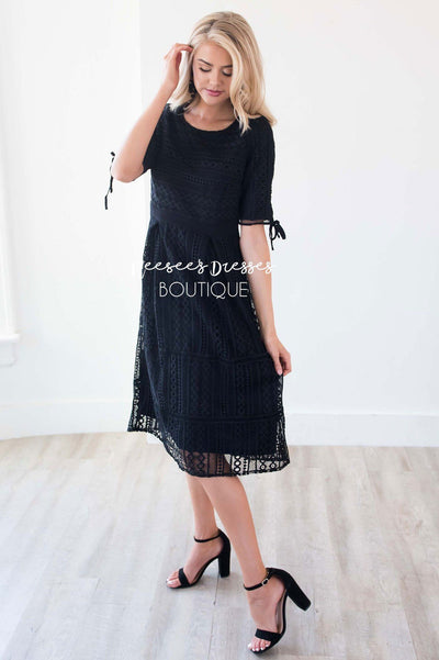 27547f01e6 Black Lace Modest Dress | Affordable Modest Dresses - Neesee's Dresses