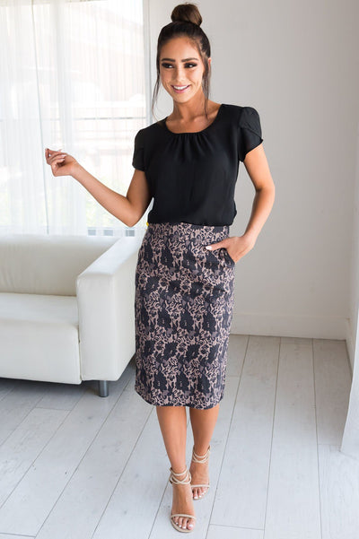 Lacy Days Pencil Skirt Skirts vendor-unknown
