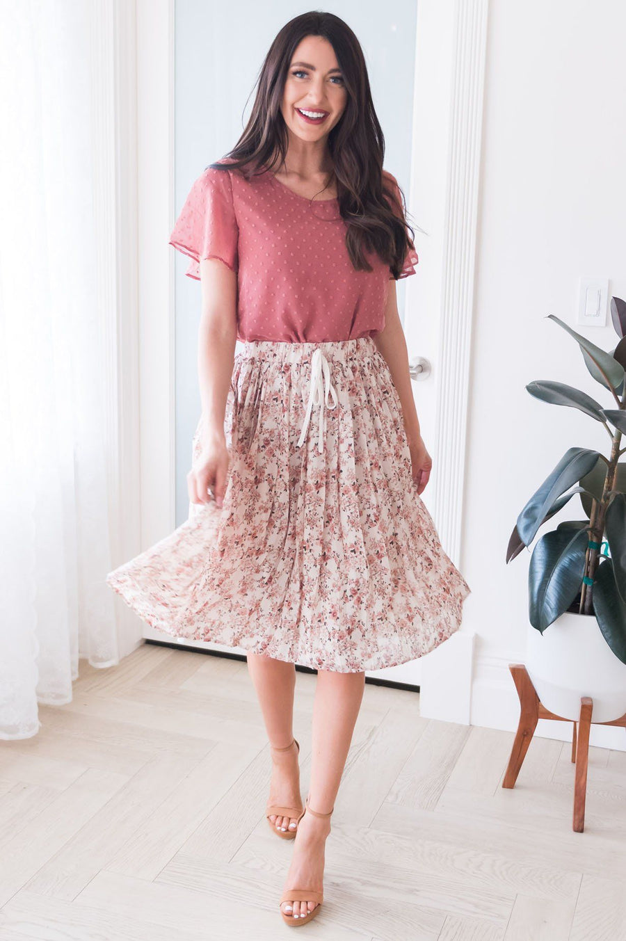 Last Minute Modest Pleat Skirt